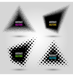 Set with abstract halftone design elements vector image