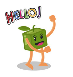 Smiling mango fruit cartoon mascot character vector