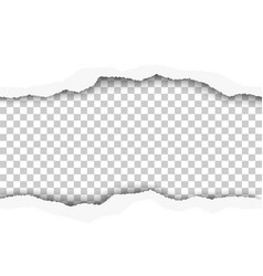 Snatched middle of white paper background vector