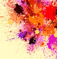 Splash abstract painting vector