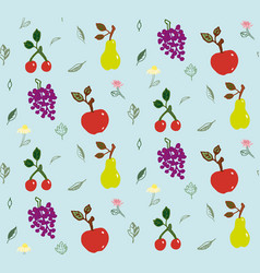 Summer garden seamless pattern vector