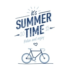 summer time typography poster vector image