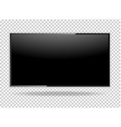 tv blank screen lcd led isolate on background vector image
