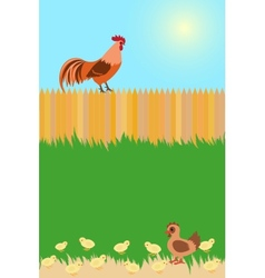 Village card concept vector image