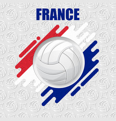 volleyball france background vector image