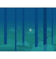Wallpaper Landscape of Winter Forest and Moon vector image