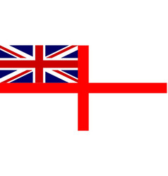 White ensign union jack vector