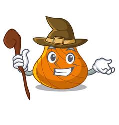 Witch hard shell mascot cartoon vector