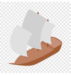 yacht isometric icon vector image vector image