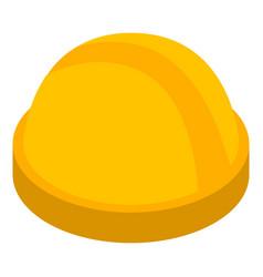 yellow construction helmet icon isometric style vector image