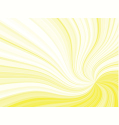 Yellow curved rays background vector