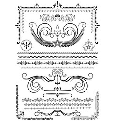 collection luxury borders and ornaments vector image
