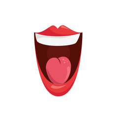 comic mouth icon vector image