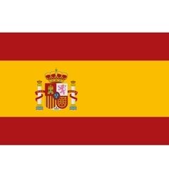 Flag of Spain in correct proportions and colors vector image