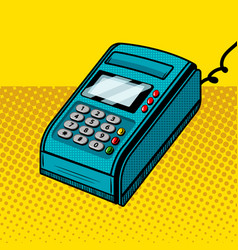Payment terminal comic book style vector