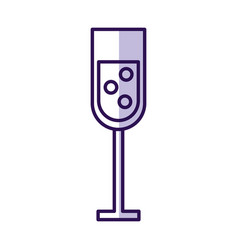 shadow champagne cup cartoon vector image