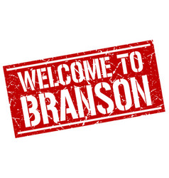 welcome to branson stamp vector image vector image