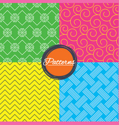 braid weave floral ornate seamless textures vector image vector image