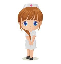 Cute cartoon of a nurse vector image