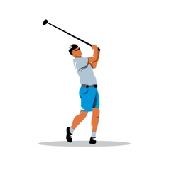 Golfer sign vector image