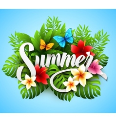 Inscription summer with vector image