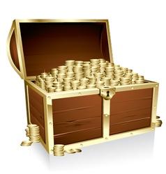 treasure chest vector image