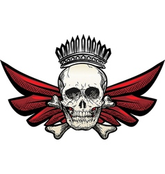 Winged skull vector image