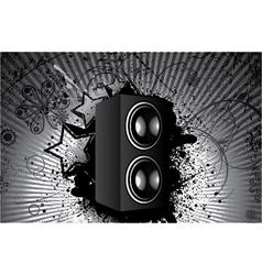 concert poster with speaker vector image