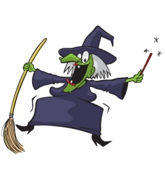 crazy witch vector image vector image