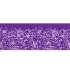Purple lace flowers horizontal seamless pattern vector image vector image