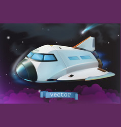 space shuttle icon 3d vector image