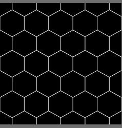white honeycomb hexagon seamless on black vector image