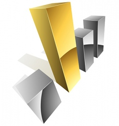 3d graph icon vector image vector image