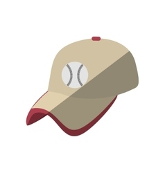 baseball cap uniform isolated icon vector image vector image