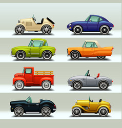car icon set-8 vector image vector image
