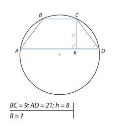 Find the radius of the circle-02 vector