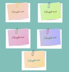 five leaflets vector image