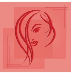 Hand drawn sketch of woman vector image vector image