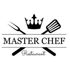 master chef emblem vector image vector image