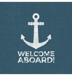 Nautical Design Sailor emblem Anchor vector image