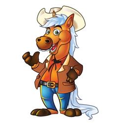 Pony in Cowboy Suit vector image vector image