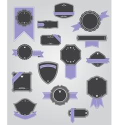 Premium Quality Labels with retro design vector image