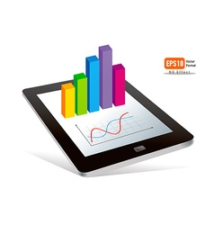 tablet pc touchpad display color diagram vector image vector image