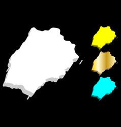 3d map of saint helena vector