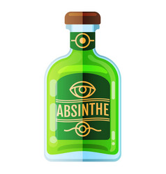 Absinthe bottle beverage flat icon sign vector