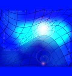 abstract technology background with blue glowing vector image