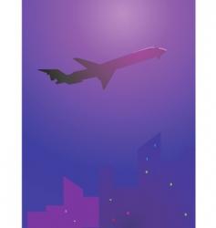 aero plane vector image vector image