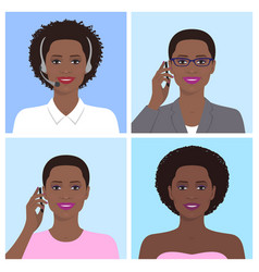 african woman avatar vector image