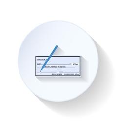 Bank check flat icons vector image