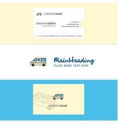 beautiful ambulance logo and business card vector image
